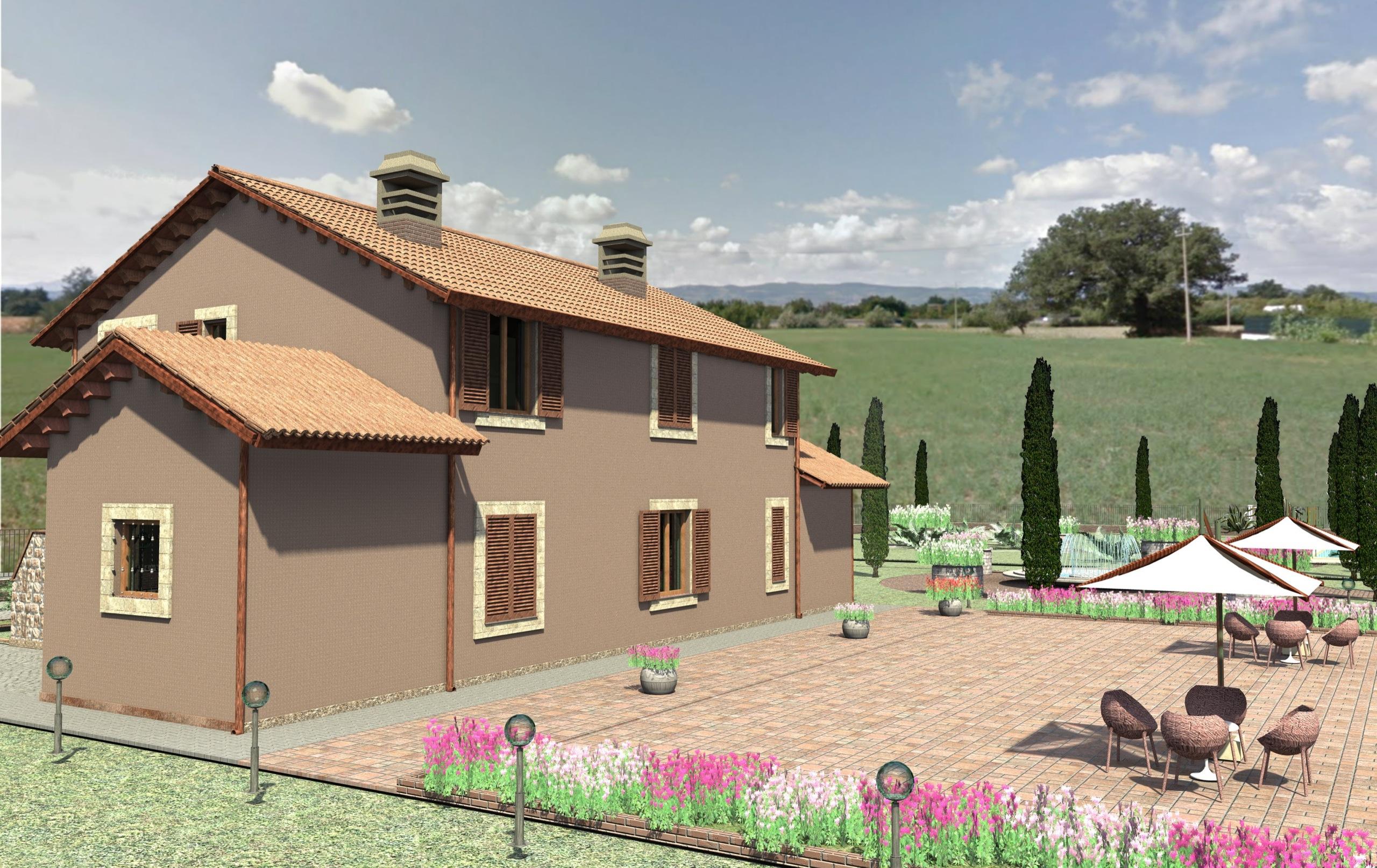 Villetta bifamiliare nuova costruzione a spello for Passi per l acquisto di terreni e la costruzione di una casa